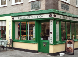 Barbican Pasty Co Shop on the Plymouth Barbican uk
